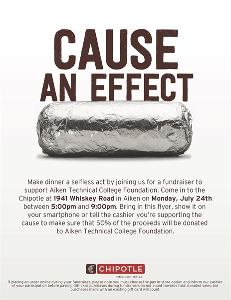 Cause An Effect: Chipotle Fundraiser for ATC Foundation