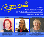 ATC Names 2019-20 SCTEA Educators of the Year Honorees