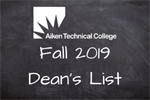 Aiken Technical College Announces Fall 2019 Dean's List