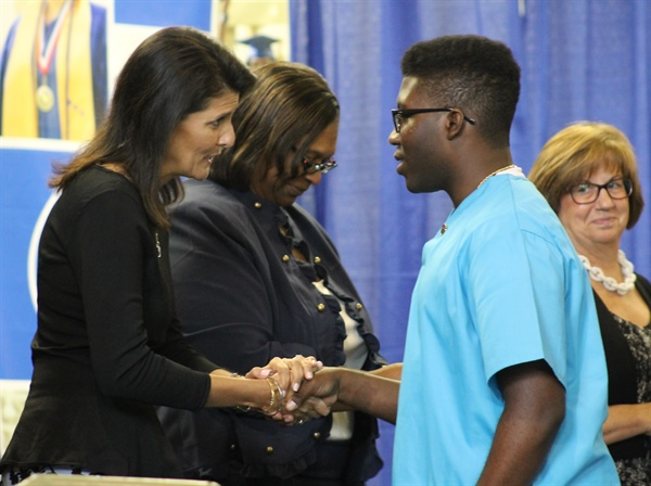 SC Gov. Nikki Haley Encourages POST ChalleNGe Graduates to Set an Example