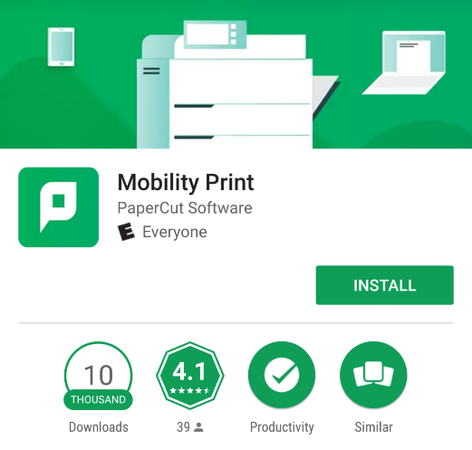 Mobility Print Application