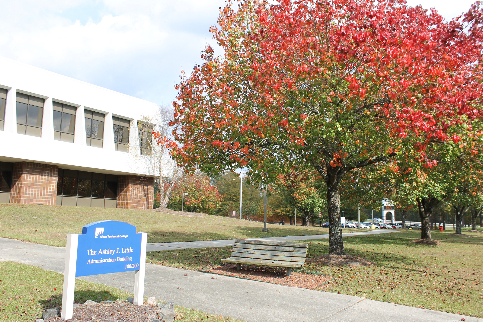 Aiken Technical College campus in fall
